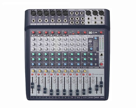 Mixer Audio profesional 12 canale, cu efect audio DSP