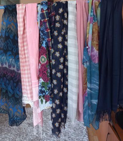 Eșarfe Damă multicolore și înflorate din Bumbac