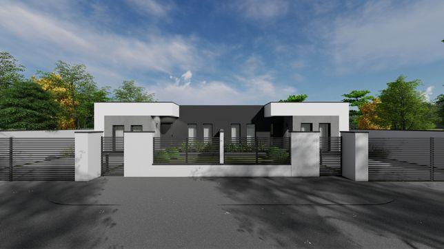 Duplex Modern perete Dublu la intrare in Sacalaz