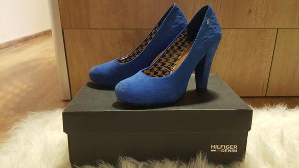 Оригинални обувки естествен велур Tommy Hilfiger 40 н