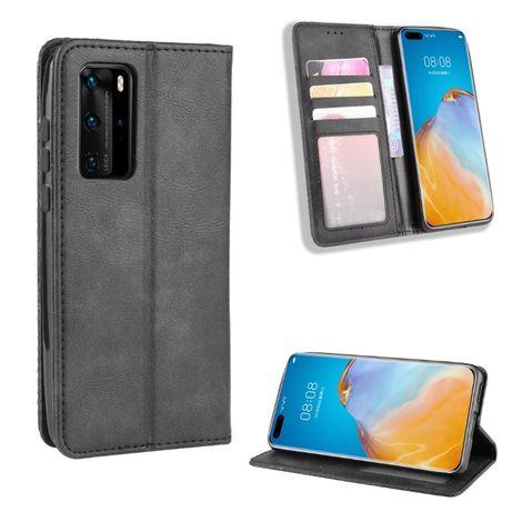 Луксозен магнитен кожен калъф / тефтер за Xiaomi Samsung Motorola Sony