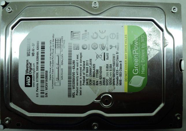 """Hard Disk Sata 3,5"""" HDD-320 Gb Western WD3200AVVS-63L2B0 Refurbished"""
