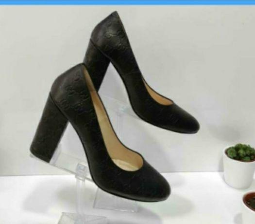 Женские туфли , цвет черный, натуральная кожа