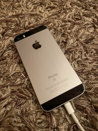 Carcasa iPhone 5se gri capac baterie original impecabil