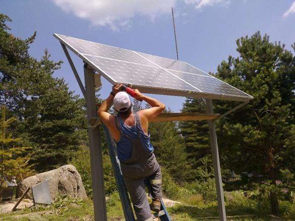 Фотоволтаични системи , соларни панели за производство на ток , монта