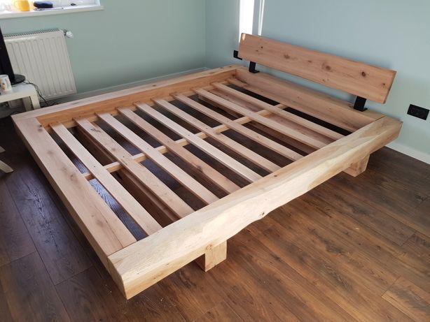 Pat din lemn masiv ( grinda stejar 15x15 cm )