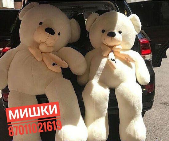 Большие медведи мишки плюшевые Алматы подарки