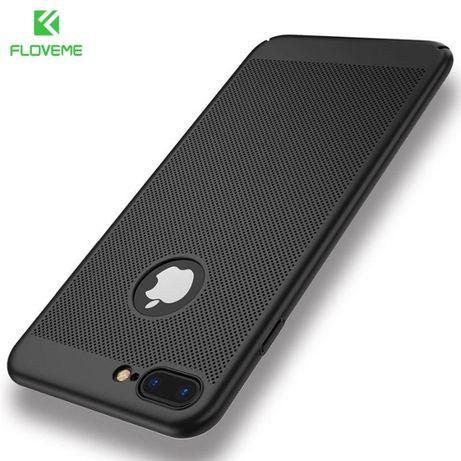 Carcasa protectie FLOVEME pt iPhone 7 Plus, neagra, protectie camera