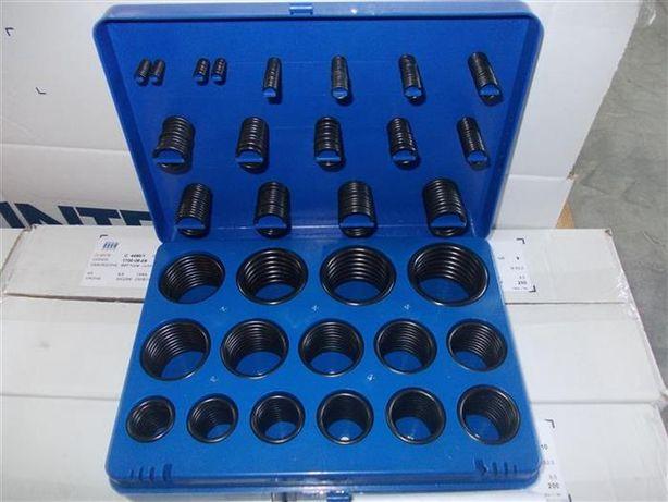 Set O-ringuri - O-ring gaz si metrice cutie 382 bucati