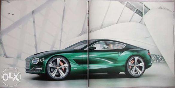 Колекционерски прескит брошура автомобили Bentley EXP 10 Speed 6 6 Con