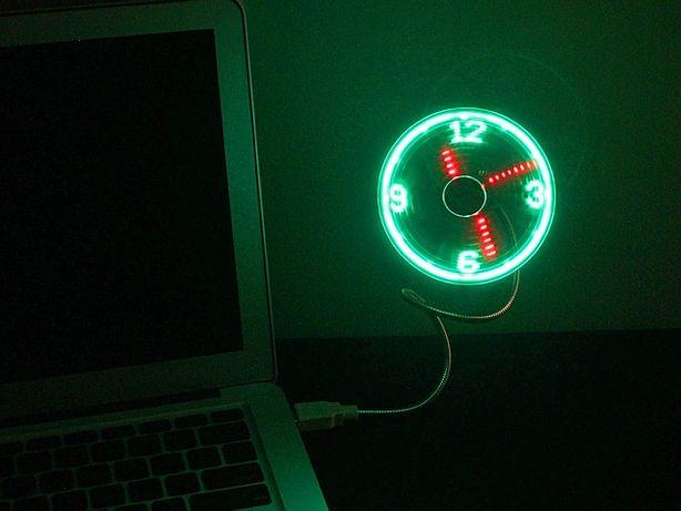 Программируемый USB LED вентилятор, светодиодные часы текст, в Алматы