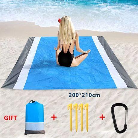 Водоустойчива постелка за плаж или пикник 210×200 за хавлия или одеяло