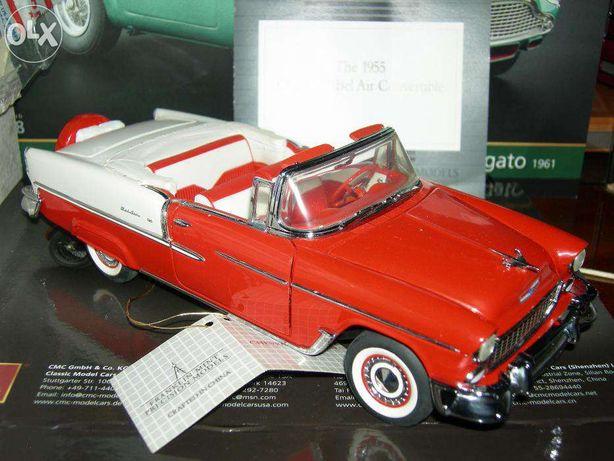 Macheta-Chevrolet Bel Air 1955 convertibil-Franklin Mint scara 1/24