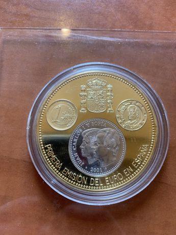 Сребърна Монета с позлата - 110 грама