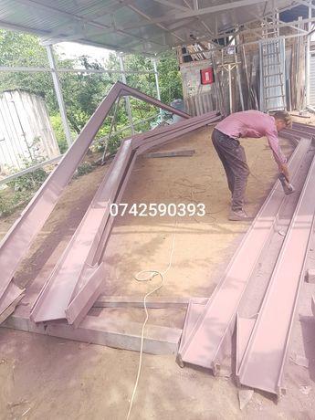 Vand hală de producție metalică 10x37