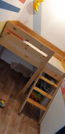 Детская кровать чердак с матрасом