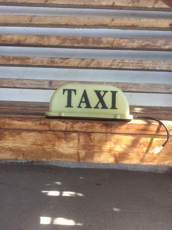 Продам знак такси шашка