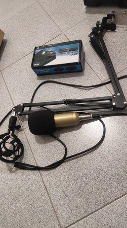 Микрофон bm-800 + 2 поп фильтра + фантомное питание + кронштейн