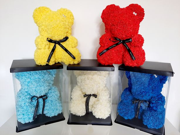 Urs,Ursulet,ursuleti,catel din trandafiri de spuma