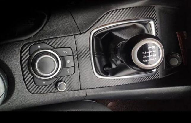 Ornamente interior tip carbon pentru Mazda 3 2013-2016