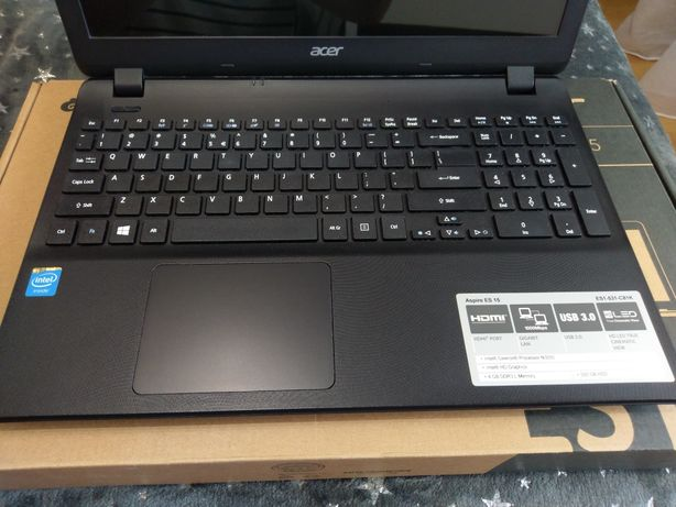 Laptop notebook Acer aspire 531 cpu dual core 2.16 ghz 4GB ram 500gb