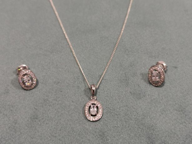Set argint 925 - lant, pandantiv si cercei - cadou bijuterii dama