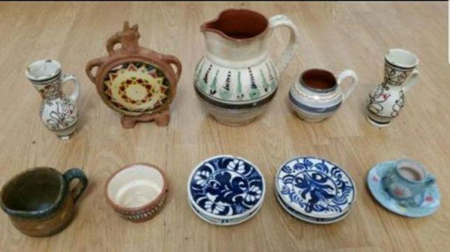Vase/farfurioare/cescute ceramica f vechi, de colectie