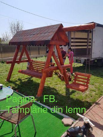 Balansoar din lemn de brad pentru gradina