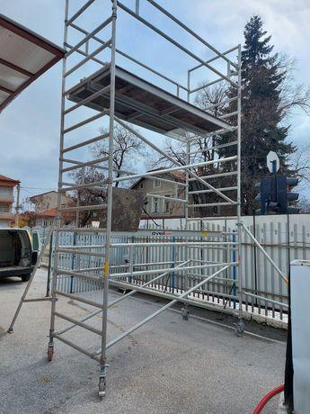 Алуминиево  строително скеле, платформа тип кула