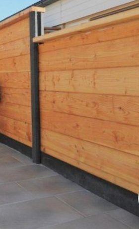 Gard lemn masiv,panouri lamela pt foișor balcon terasă