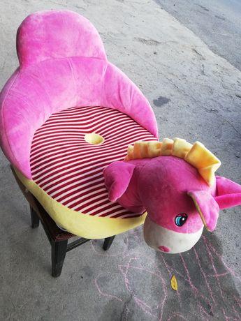 Fotoliu pluș unicorn