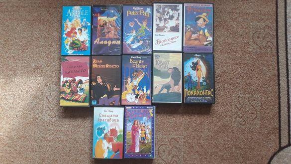 Видеокасети анимации и други видеокасети с игрални филми