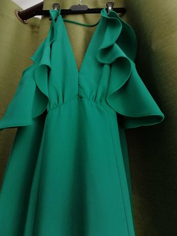 Rochie lungă verde