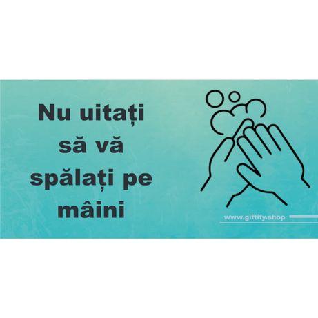 """Sticker COVID-19 """"Nu uitati sa va spalati pe maini"""""""