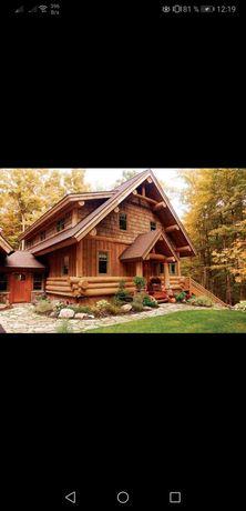 Cabana lemn rotund calibrat