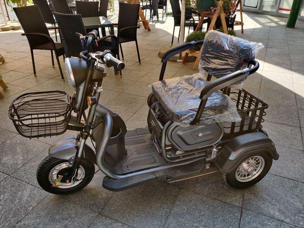Tricicleta Electrica cu 2 locuri, fara permis, greutate admisa 150Kg