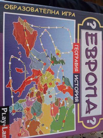 Образователна игра Европа