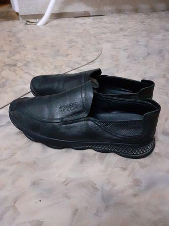Кожанный муж. туфли