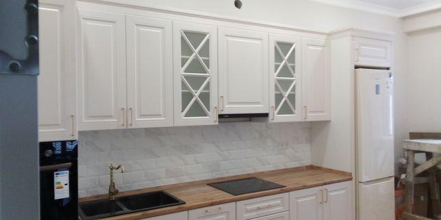 Замена кухонных фасадов из МДФ,ЛДСП и ШПОНА