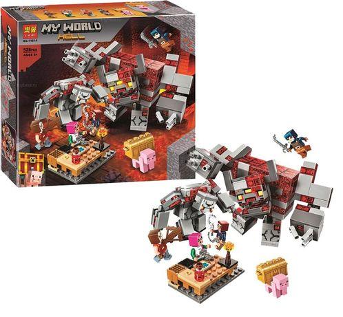 Конструктор Minecraft Битва за красную пыль (LEGO лего майнкрафт)
