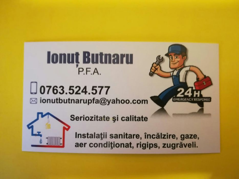Instalator sanitar, gaze si aer conditionat Bacau - imagine 1