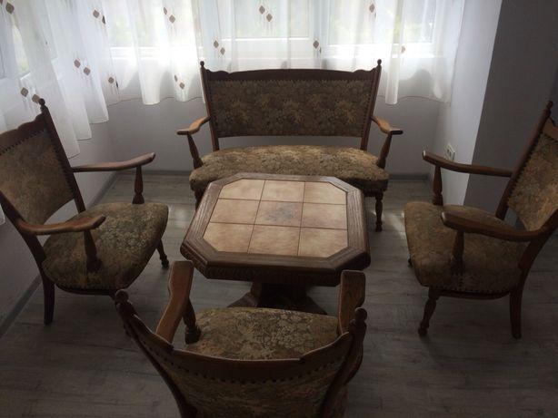 Set scaune +bancuta +masa lemn masiv
