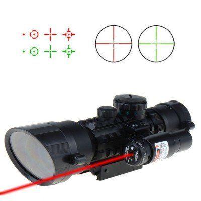 Luneta cu laser verde si rosu pentru vanatoare M9 LS3-10x42E Garantie