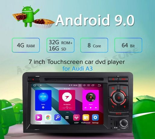 Navigatie Gps Android 9.0 AUDI a3 s3 ,rs3 4GB ,8 core