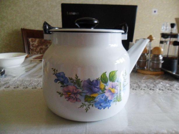 5500 т. Чайник эмалированный –металлический. Россия