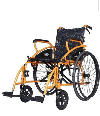 Scaun cu rotile Maidesite 117-X, portocaliu/negru