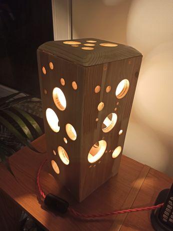 Veioza lampa handmade lucrata manual