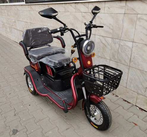 Tricicleta electrica 2 Locuri, Deluxe Mob 9,  Cu acumulatori 48V, 12Ah