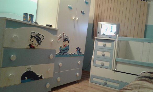 Мебели за детска стая, гардероб, скрин, кошара