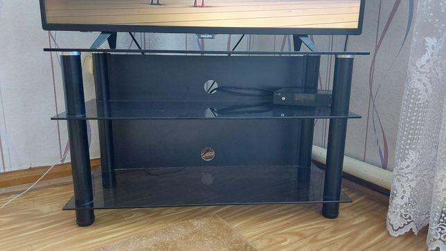 Продам стеклянную тумбочку под телевизор